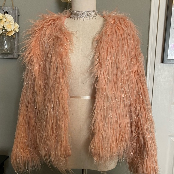 Furry pink jacket